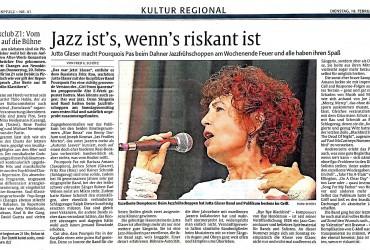 Jazz ist´s, wenn´s riskant ist